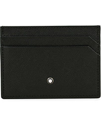 Sartorial Pocket 5 Credit Card Holder Black