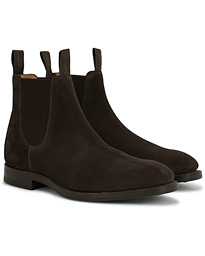 Chatsworth Chelsea Boot Dark Brown Suede