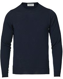 Lundy Extra Fine Merino Crew Neck Midnight