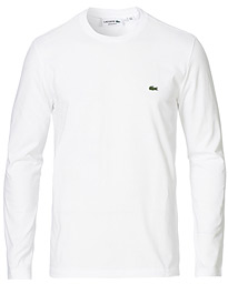 Lacoste Long Sleeve Crew Neck Tee White