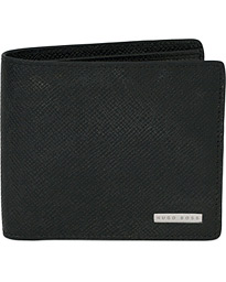 BOSS Signature Leather Wallet Black