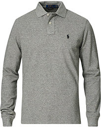 Custom Slim Fit Long Sleeve Polo Canterbury Heather