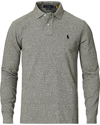 Polo Ralph Lauren Slim Fit Long Sleeve Polo Canterbury Heather