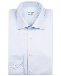 Stenströms Fitted Body Thin Stripe Shirt White/Blue