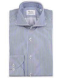 Stenströms Fitted Body Stripe Shirt White/Blue