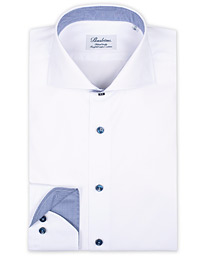 Fitted Body Contrast Shirt White