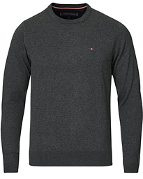 Tommy Hilfiger Cotton/Silk Crew Neck Pullover Charcoal Heather