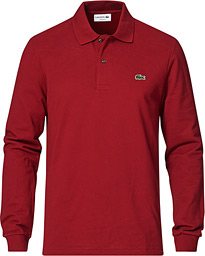 Lacoste Long Sleeve Original Polo Bordeaux