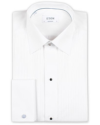 Eton Custom Fit Tuxedo Shirt Black Ribbon White