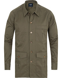 Drake's 3 Pocket Shacket Khaki