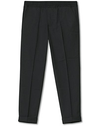 Filippa K Terry Gabardine Cropped Turn Up Trousers Antracite