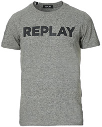 Replay Crew Neck Logo Tee Grey