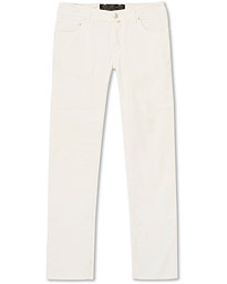 Jacob Cohën 5-Pocket Gabardine Trousers Off White