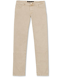 Jacob Cohën 5-Pocket Gabardine Trousers Beige
