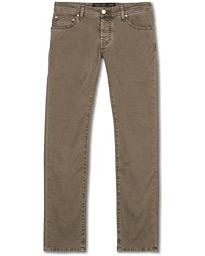 Jacob Cohën 5-Pocket Gabardine Trousers Grey