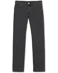 Jacob Cohën 5-Pocket Gabardine Trousers Dark Grey
