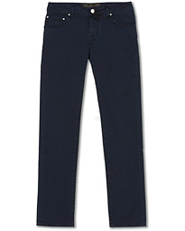 Jacob Cohën 5-Pocket Gabardine Trousers Blue