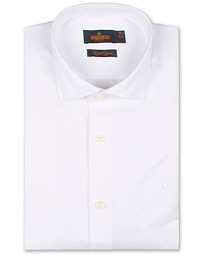 Morris Dean Spread Collar Cotton Shirt White