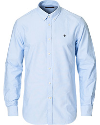 Morris Oxford Button Down Cotton Shirt Light Blue