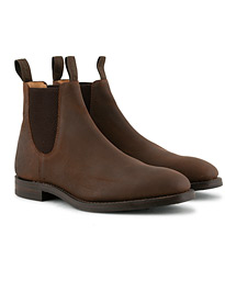 Loake 1880 Chatsworth Chelsea Boot Brown Waxed Suede
