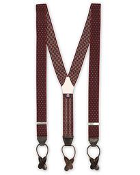 Elastic Dot Braces 35 mm Wine