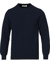 Piacenza Cashmere Cashmere Crew Neck Sweater Navy