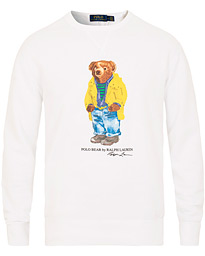 10cce2176 Polo Ralph Lauren Printed Bear Crew Neck Sweatshirt White