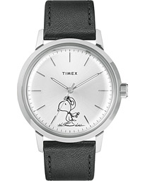 Timex Marlin Snoopy Automatic Silver Dial Black