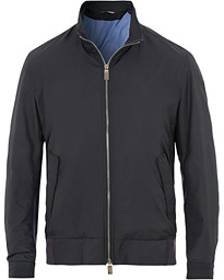 ac010e15cd9 Canali Harrington Jacket Dark Blue