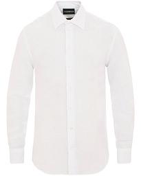 33c1261e Emporio Armani Slim Fit Linen Shirt White
