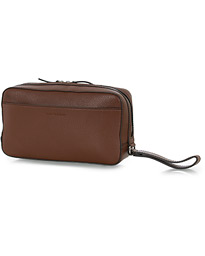 Wes Grained Leather Toiled Bag Brown