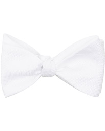 Amanda Christensen Cotton Pique Self Tie  White