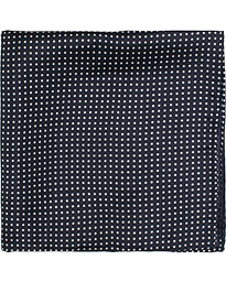 Handkerchief Dot Silk Navy