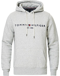 Tommy Hilfiger Logo Hoodie Cloud Heather