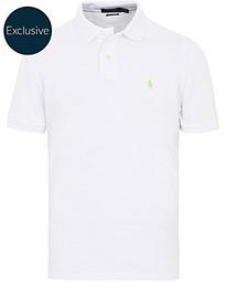 cb7817b54 Polo Ralph Lauren Custom Slim Fit Neon Mesh Polo White