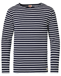 Armor-lux Houat Héritage Stripe Longsleeve T-shirt Navy/White
