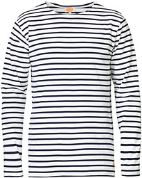 Armor-lux Houat Héritage Stripe Longsleeve T-shirt White/Navy