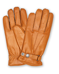 Hestra Jake Wool Lined Buckle Glove Cognac