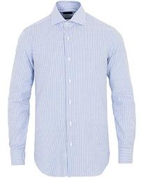 87141995 Barba Napoli Culto Slim Fit Striped Shirt Blue