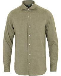 42fc2b59 Finamore Napoli Tokyo Slim Fit Flannel Shirt Light Olive