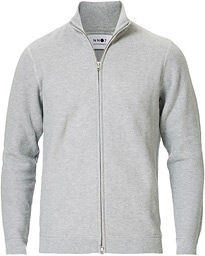 NN07 Patrick Full Zip Medium Grey Melange