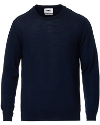 NN07 Ted Extra Fine Merino Crew Neck Pullover Navy Blue