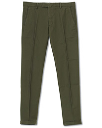 NN07 Scott Regular Fit Stretch Trousers Army Green