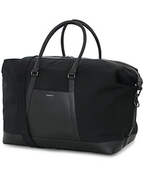 Sandqvist Frans Twill Leather Weekendbag Black/Black