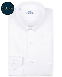Barba Napoli Slim Fit Oxford Button Down Shirt White