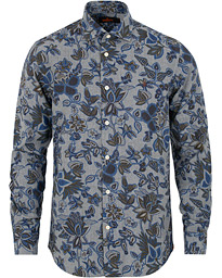 Morris Hadwin Printed Flower Shirt Green