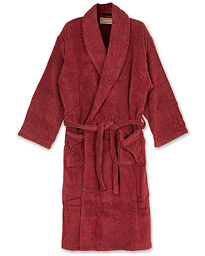 Cleverly Laundry Striped Cotton Terry Robe Smoky Red