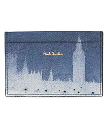 Paul Smith London Photo Print Credit Card Case Black