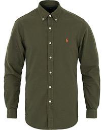 04d3945c Polo Ralph Lauren Slim Fit Garment Dyed Oxford Shirt Olive