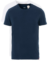 Slim 2-Pack Crew Neck Tee Navy/White